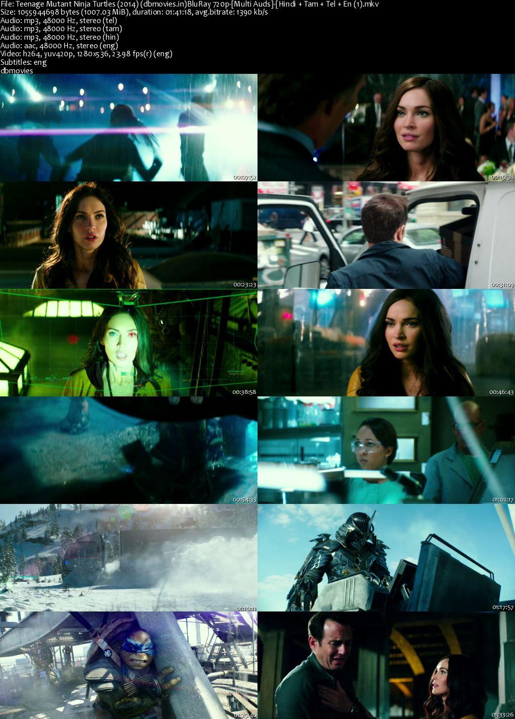 screen shot Teenage Mutant Ninja Turtles 2014 Full Movie Download Dual Audio Hindi 720p