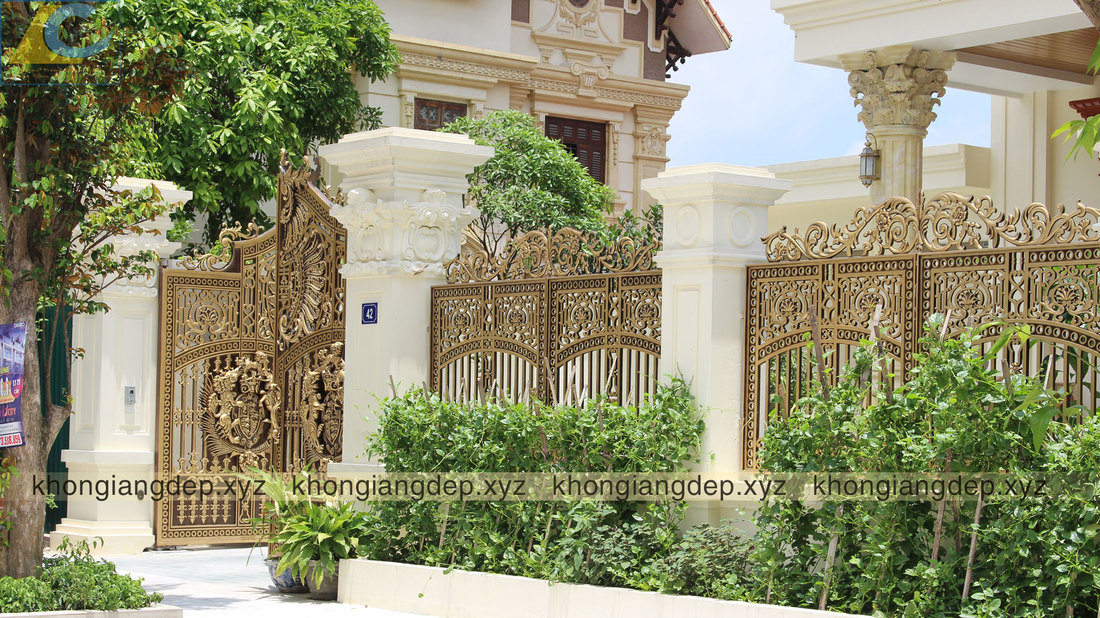 cổng tường rào nhôm đúc