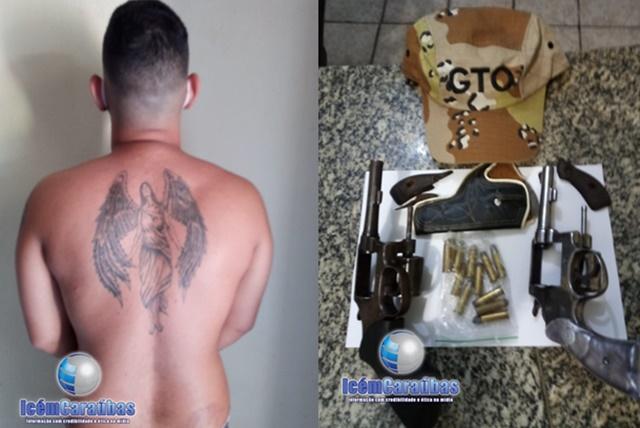 Homem é preso por posse de duas armas de fogo na Cidade de Apodi, RN