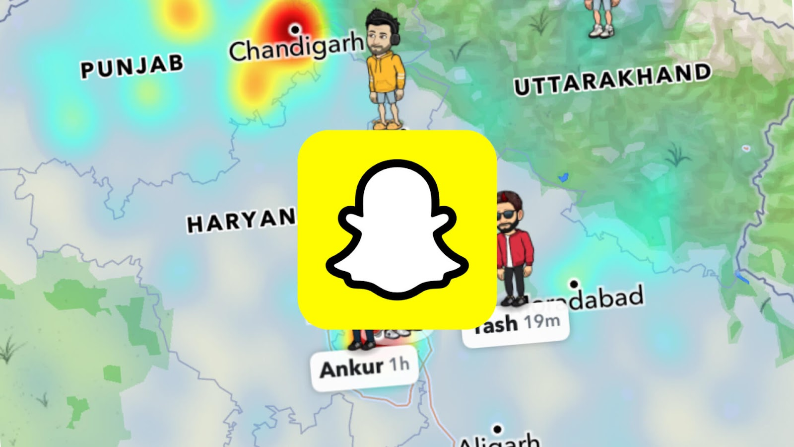 Hide location on Snapchat