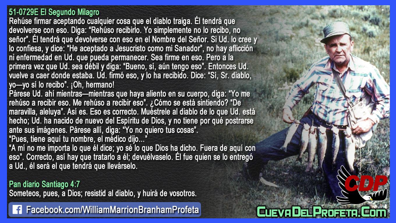 Diablo yo me rehúso a recibir eso - William Branham en Español