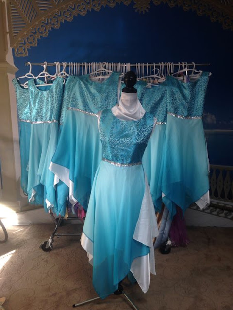 Figurinos para Dança (Parte 5) - Femininos, Vestes ministeriais femininas, figurinos para dança, figurinos de dança para mulheres,