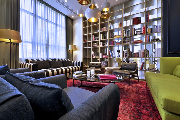 Lobby furniture in Hotel Indigo in Tel Aviv