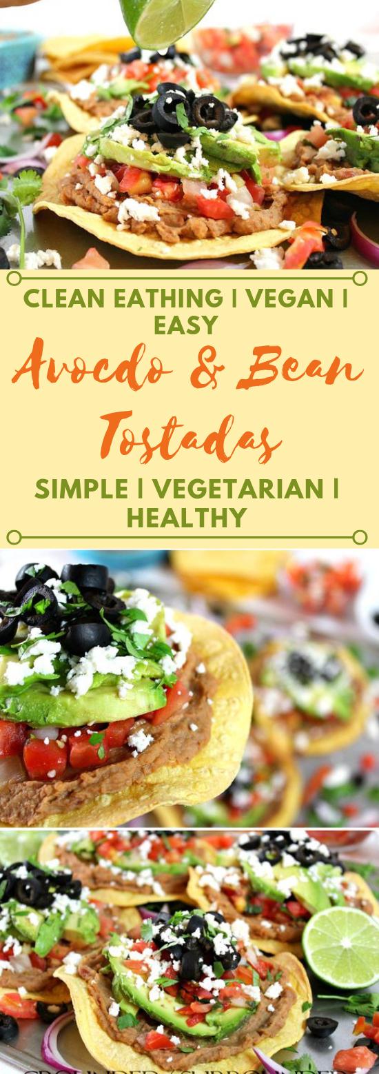 Easy Vegetarian Tostadas #vegetarian #easy #breakfast #salad #beef