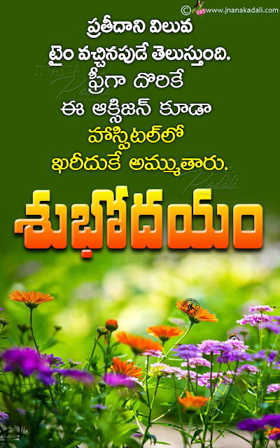 nice words on life in telugu, greatness of life in telugu, words on life in telugu, best good morning quotes in telugu