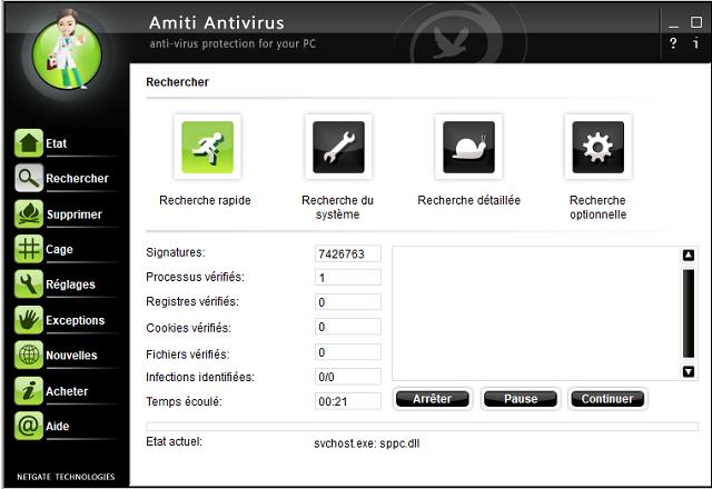 تحميل برنامج الحماية من الفيروسات والبرمجيات الضارة Amiti Antivirus مجانا