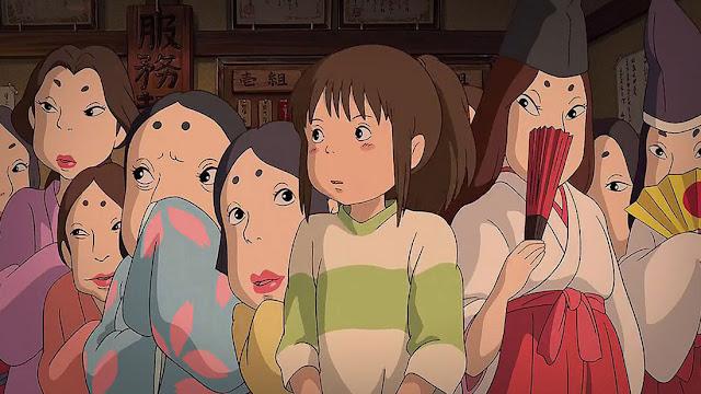 Imagen de la película de animación japonesa de Studio Ghibli El viaje de Chihiro