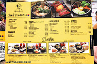 Menu and Prices of Chef's Noodle