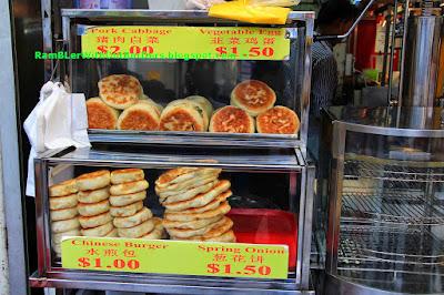 """Chinese burgers"", Bugis street flea market, Singapore"