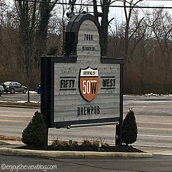 Fifty West Brewpub sign