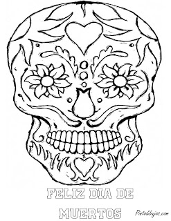 Skull mandala coloring pages | Skull day of the dead coloring pages