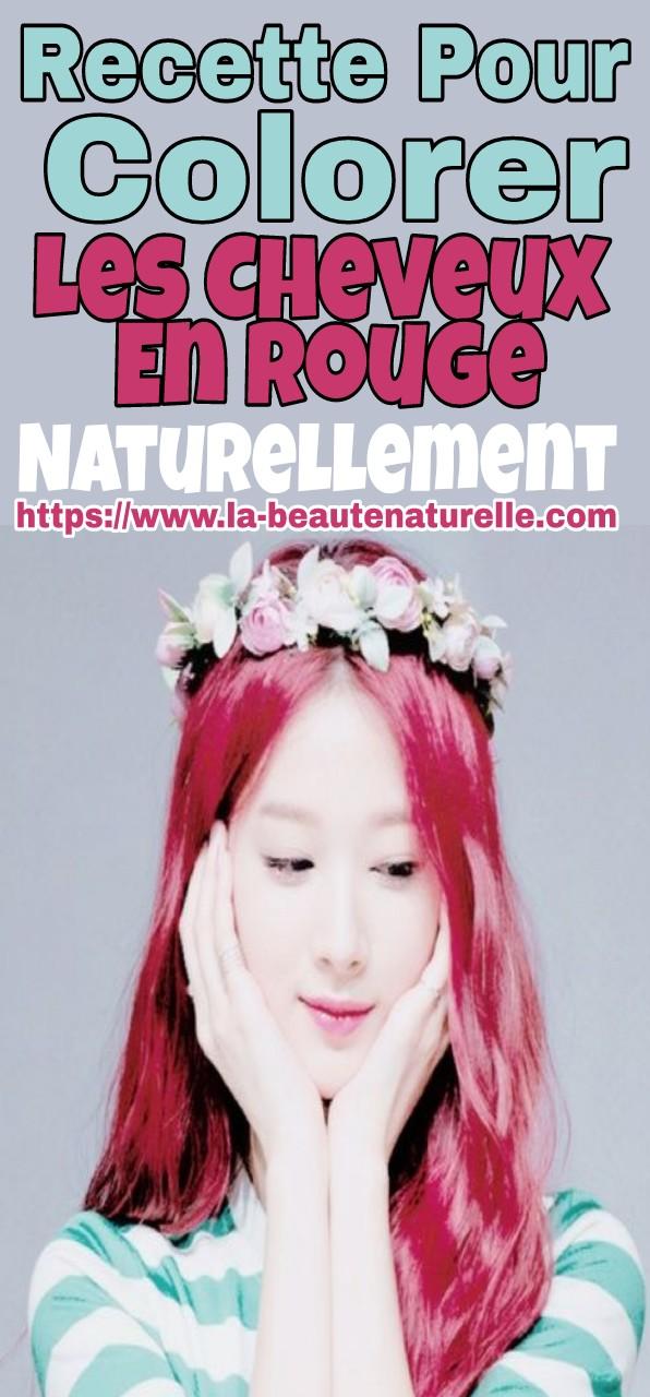Recette pour colorer les cheveux en rouge naturellement