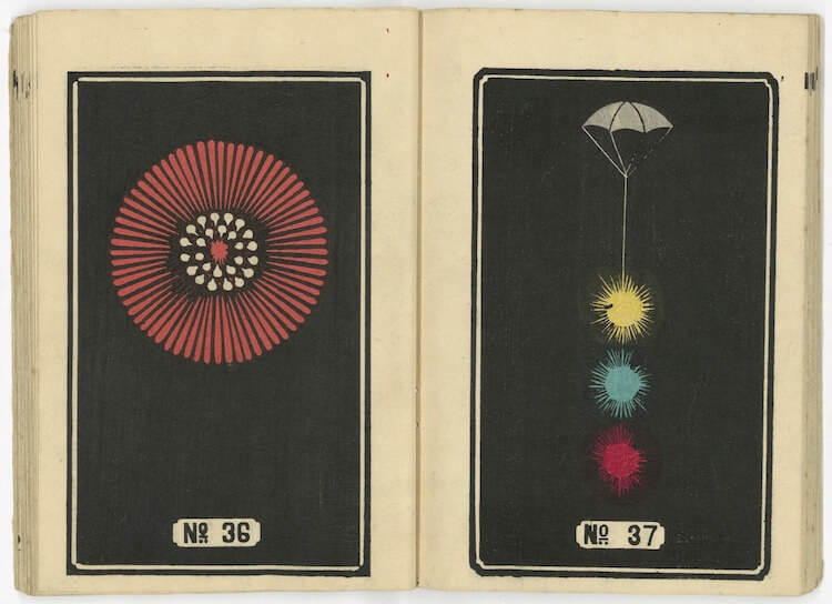 Hundreds Of Japanese Fireworks Illustrations From The 19th Century Are Now Available For Download