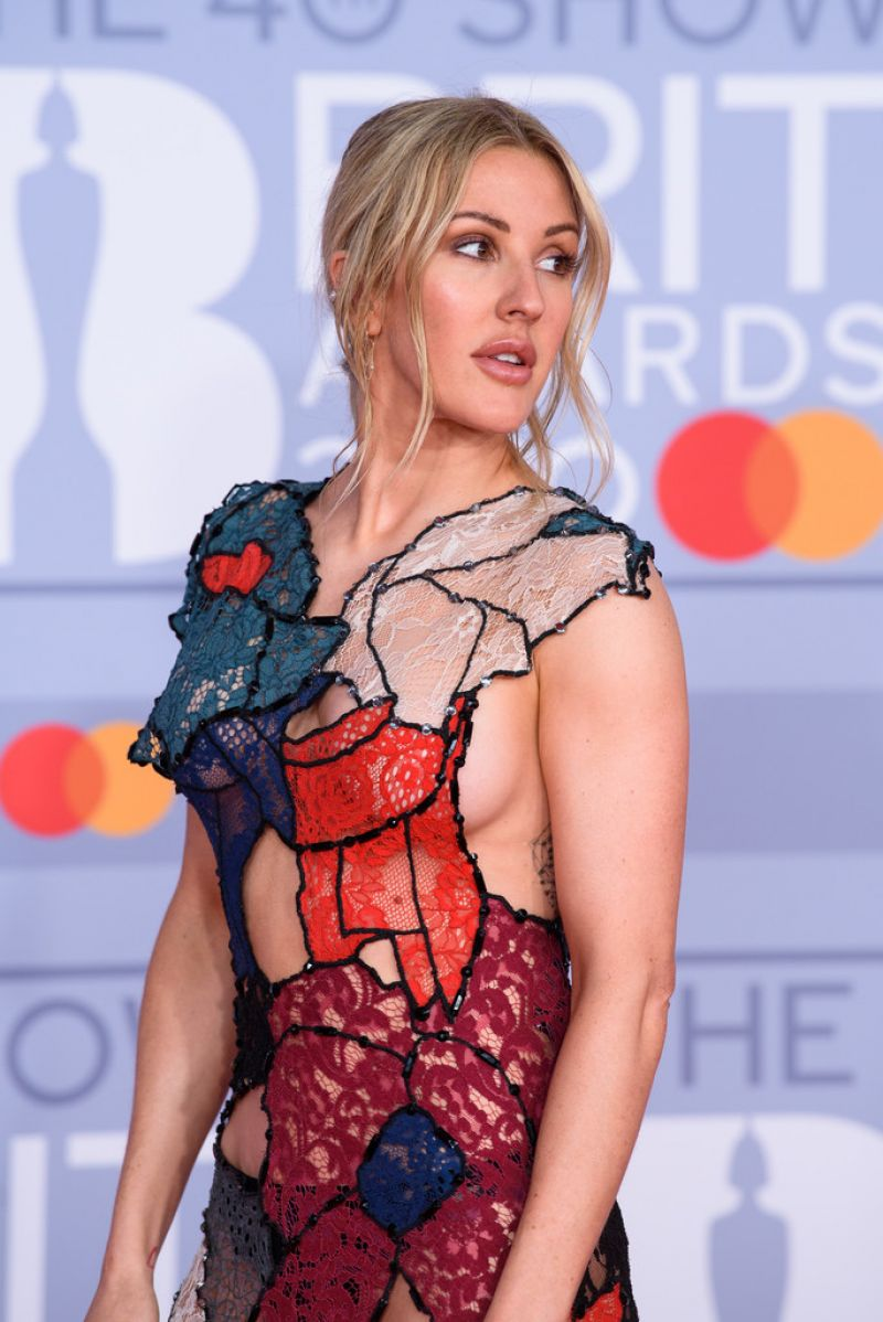 Ellie Goulding at Brit Awards 2020 in London