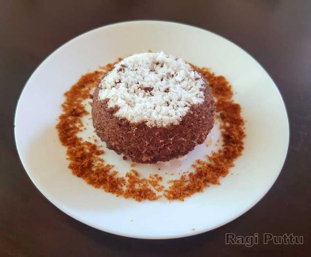 images of Ragi Puttu / Finger Millet Puttu / Easy and Healthy Ragi Puttu / Instant Ragi Puttu / Kezhvaragu Puttu / Ragi Sweet Puttu / Millet Recipes