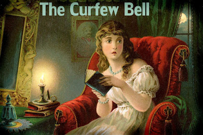 victorian painting of the curfew bell scared young lady