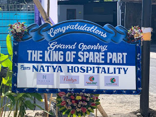 Karangan Bunga Dari Natya Hospitality Group untuk Spare Part Store - The King Of Spare Part Kitchen & Laundry Equipment in Indonesia