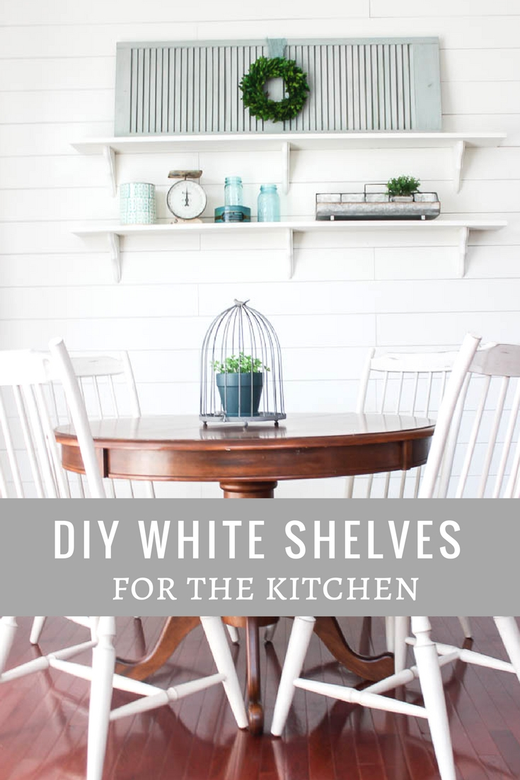 DIY white shelves