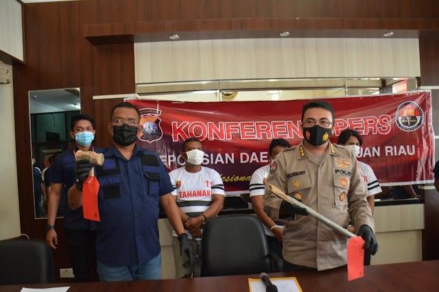 Dit Reskrimum Polda Kepri Berhasil Mengamankan Tiga Orang Pelaku Pencurian Kabel Telkom
