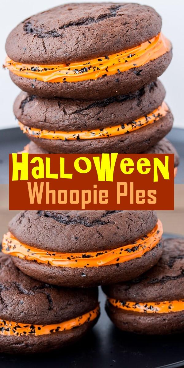 Halloween Whoopie PIes #halloweenrecipes