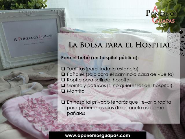 La bolsa para el hospital (bebé) para el parto