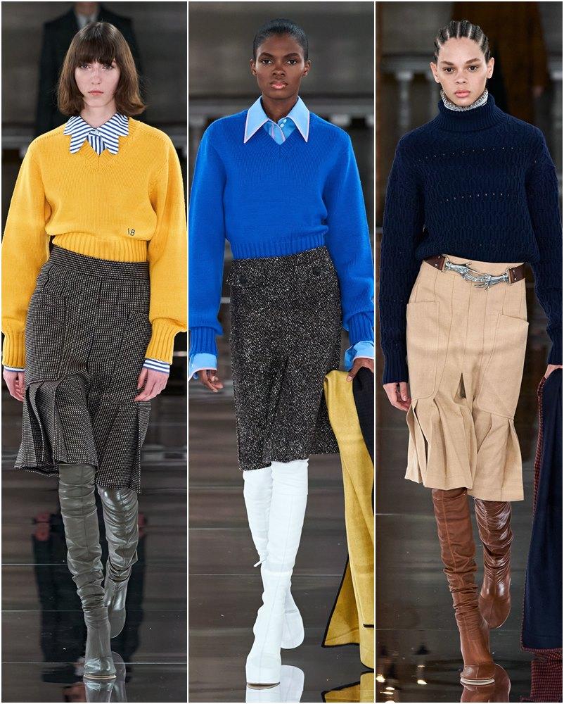 Victoria Beckham coleção de outono e inverno 2020 na LFW