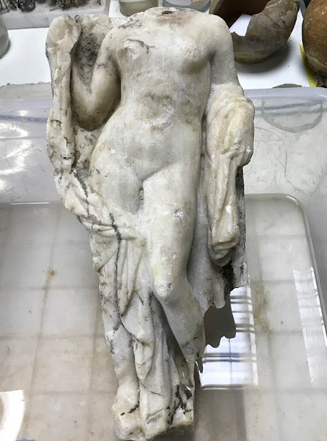 Aphrodite statue found during Metro excavation works in Thessaloniki