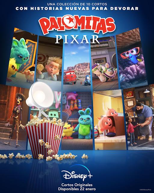 Cartel Palomitas Pixar