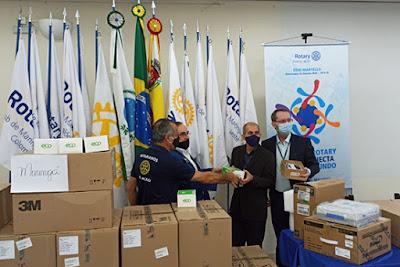 Repasse do Rotary à Santa Casa de Maringá – covid-19. Café com Jornalista