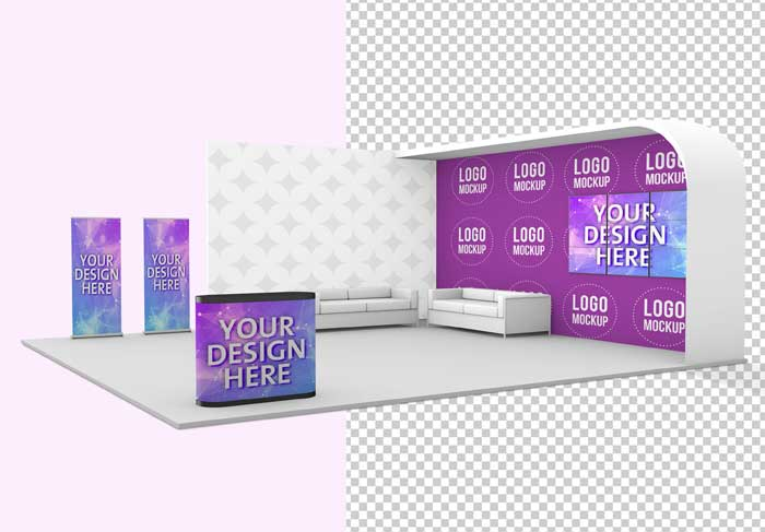 Trade Show Exhibition Stand Mockup
