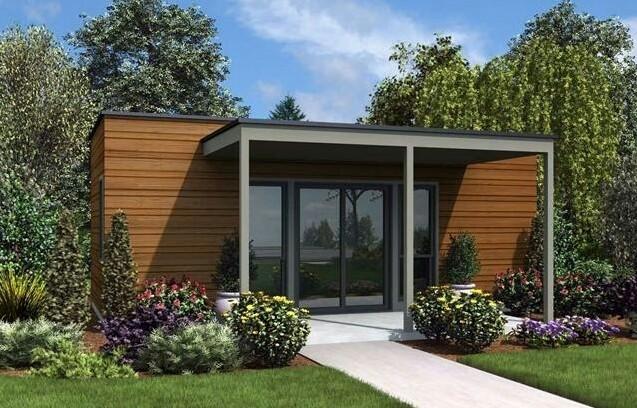 Simple One-Story Minimalist House