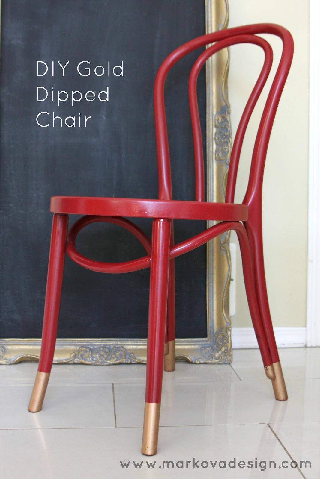 Chair Design Gold Salon Styling Chairs Canada Diy Dipped Markova
