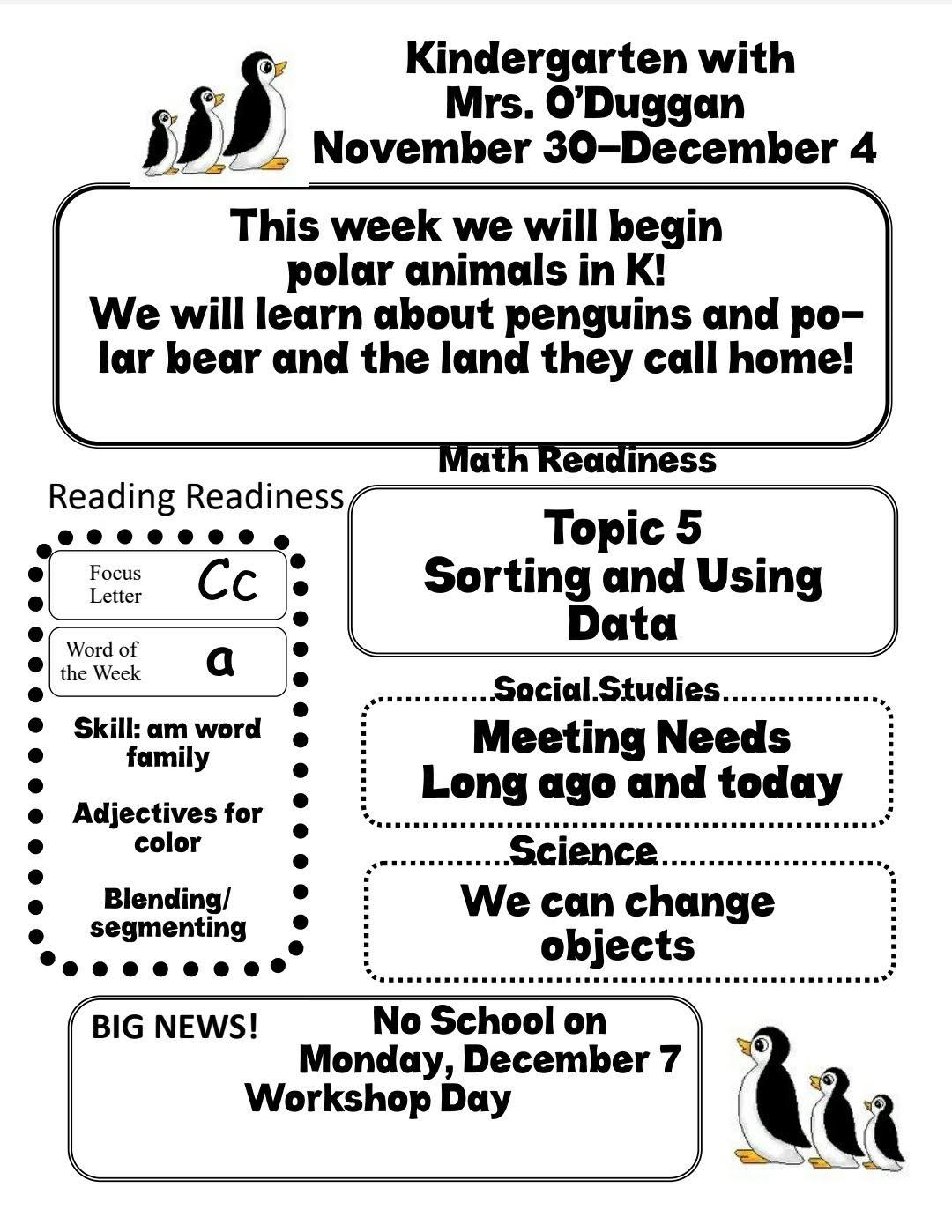 Mrs. O's Kindergarten and Family Blog: Newsletters 2020-2021