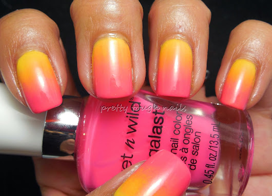 Sally Hansen Spark In The Dark Over Wet 'n' Wild All Access Gradient