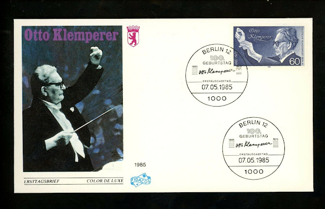 Germany Berlin 1985 Music Birth Centenary Conductor Otto Klemperer FDC
