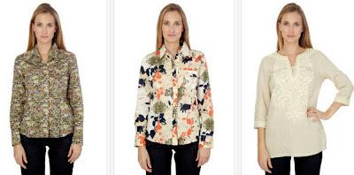 Camisas y túnica de lino color beige