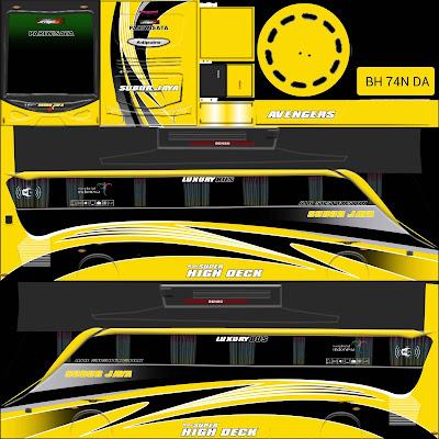 tema bussid subur jaya kuning