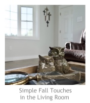 Simple Fall Touches in the Living Room at Pieced Pastimes