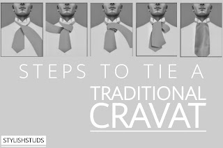 How to tie a cravat in traditional way