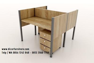 harga meja cubicle custome