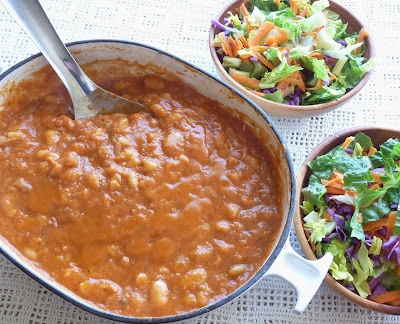 Butter-Infused Beans in Tomato Sauce