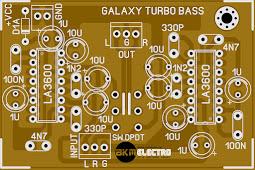 Membuat Rangkaian Galaxy Penambah Bass Untuk Power amplifier