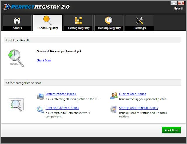 Screenshot Raxco PerfectRegistry 2.0.0.3185 Full Version