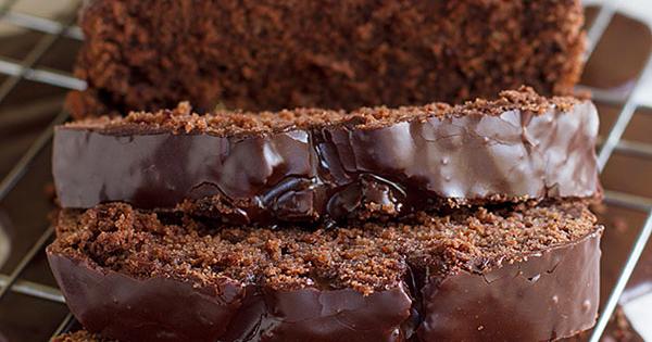 Dark Chocolate Pound Cake With Powdered Sugar