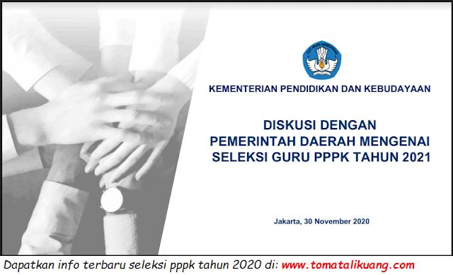 jadwal pendaftaran pelaksanaan materi tes tujian seleksi pegawai pemerintah dengan perjanjian kerja pppk p3k tahun 2021 tomatalikuang.com