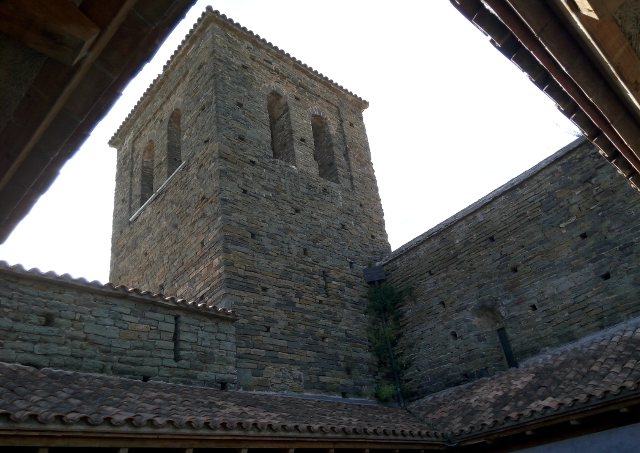 Vista des del claustre