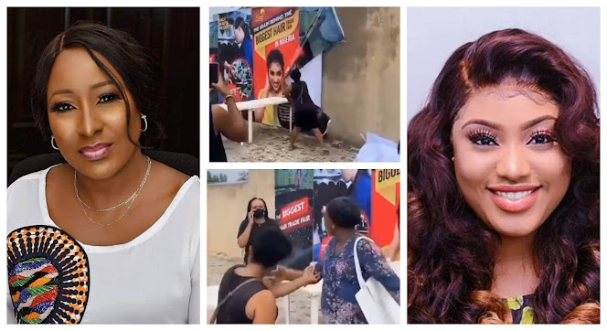 Give Me My Money Kachi:Angry Customer storms at Actress Ireti Doyle Daughter's Stall for Owing Her (Video)