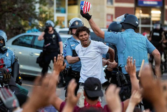 Minneapolis police arrested protesters demanding justice for George Floyd