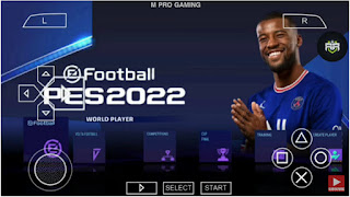 Download PES 2022 PPSSPP Camera PS5 English Version Best Graphics & New Faces Kits 2021/22