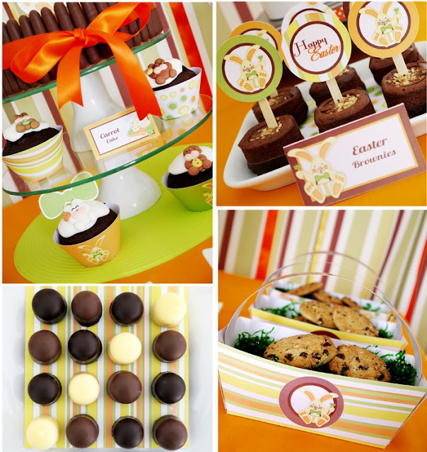 Easter Bunny Party: A Full-On Chocolate Desserts Table Favors